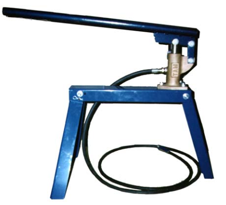 Single piston hand pump for use with injection materials