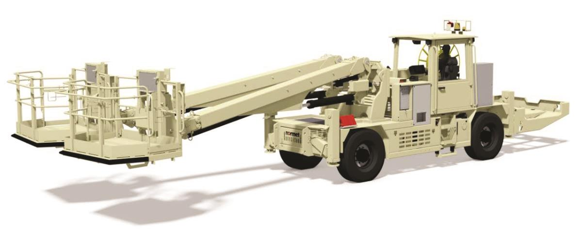 Charmec 125 T(V) is a self propelled diesel driven twin boom unit for charging
